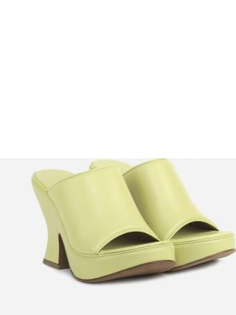 Bottega Veneta Wedge Sandals Made Of Leather