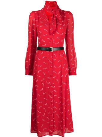 MICHAEL Michael Kors Long Signature Red Dress