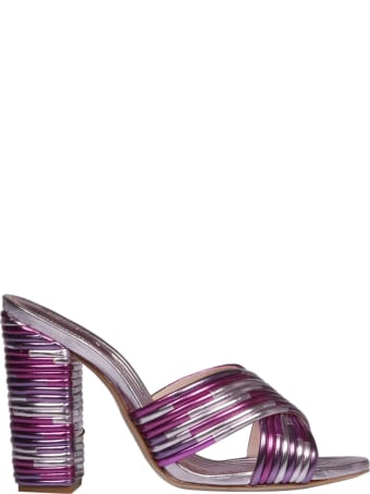 Schutz Laminated Leather Sandals