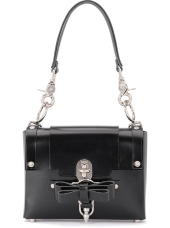 Niels Peeraer Bow Buckle Small Black Leather Bag