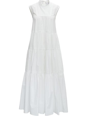 Patou Maxi White Cotton Dress