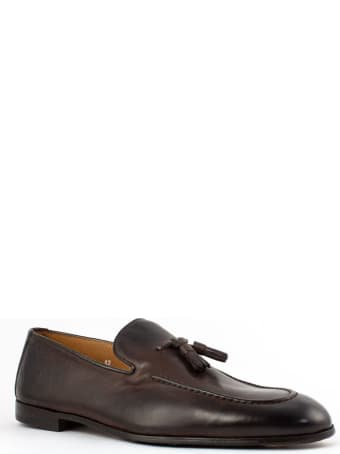 Doucal's Brown Smooth Leather Loafer