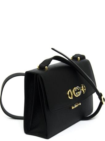 Gucci Gucci Zumi Black Leather Small Shoulder Bag