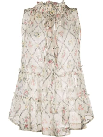 SEMICOUTURE Maude Top With Floral Print