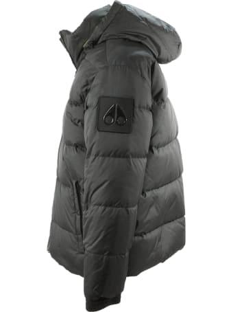 Moose Knuckles Black Hooded Puffer Coat