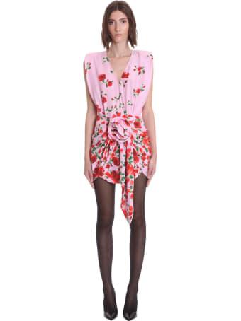 Magda Butrym Rozowy Dress In Rose-pink Silk