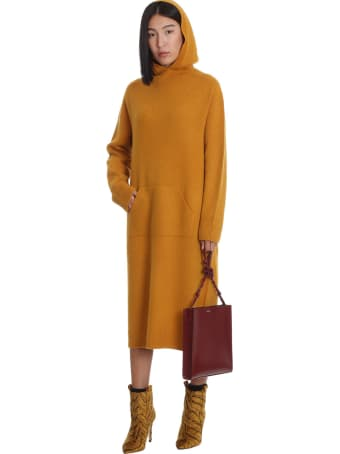 La Ploubel Dress In Yellow Suede