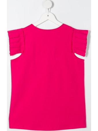 Givenchy Pink Jersey T-shirt With Logo Embroidery