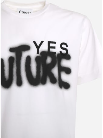 Études Cotton T-shirt With Contrasting Yes Future Print