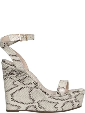 Schutz Pythoned Wedge Sandals