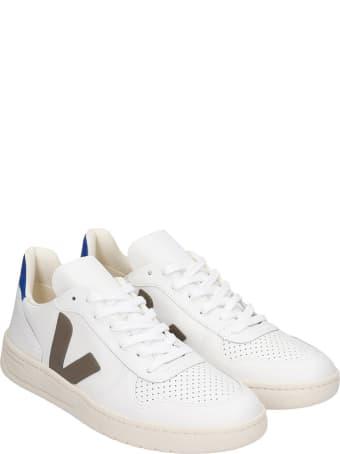Veja V-10 Sneakers In White Leather