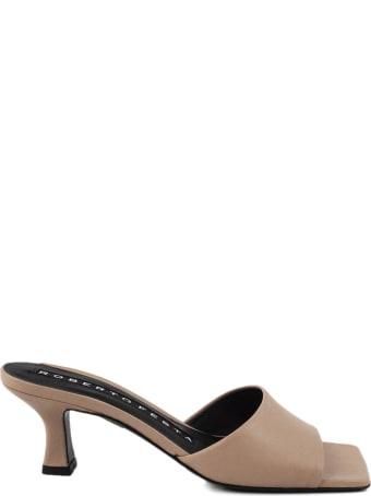 Roberto Festa Eleonor Beige Leather Sandal