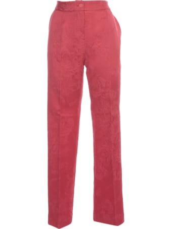 Blumarine Slim Pants Jacquard Strecth