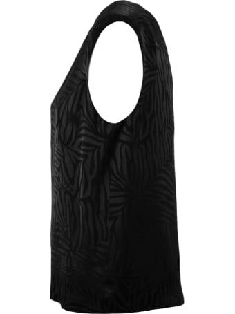 Federica Tosi Black Fabric T-shirt