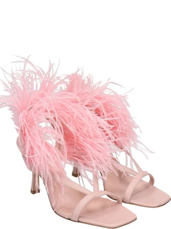 GIA COUTURE Sandals In Rose-pink Polyester