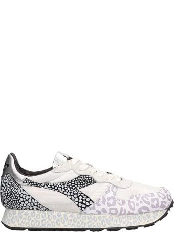 Diadora White Fabric Camaro H Sneakers