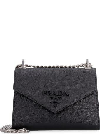 Prada Monochrome Saffiano Leather Shoulder Bag