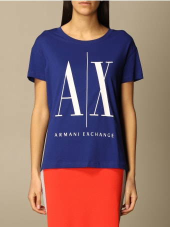 Armani Collezioni Armani Exchange T-shirt Half Sleeve Crew Neck Logo
