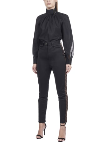 Fendi Logo Band Aside Trousers