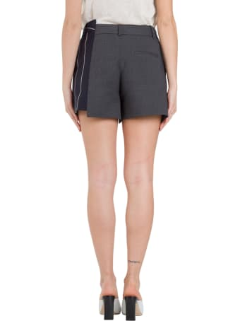 MONSE Inside-out Patchwork Shorts