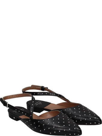 Laurence Dacade Anael Ballet Flats In Black Leather