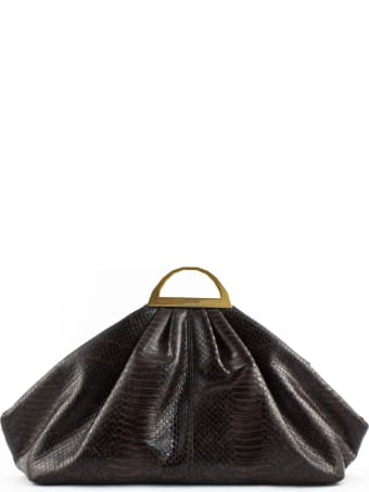 the VOLON Python Leather Clutch Bag