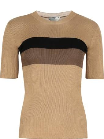 Fendi Knitted Silk Top