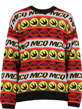 McQ Alexander McQueen Branded Sweater