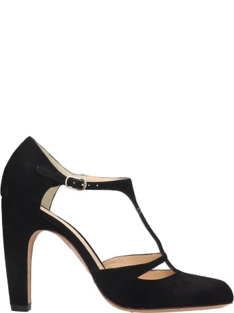 Chie Mihara Daylil Sandals In Black Velvet