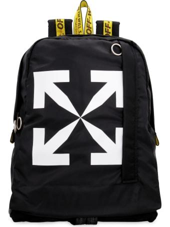 Off-White Logo Detail Nylon Backpack