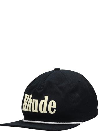 Rhude Rhonda 2 Log Hats In Black Cotton
