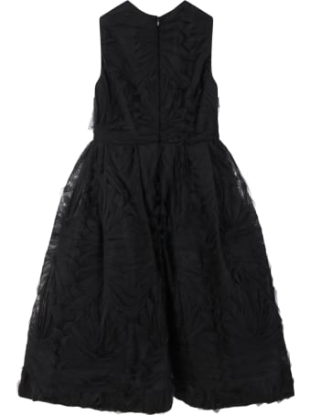 Elie Saab Black Dress For Girl With Iconic Logo