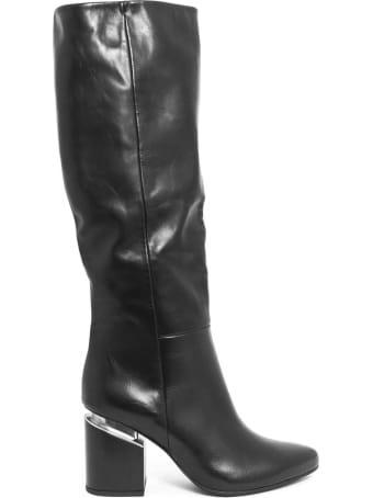 Vic Matié Semi-shiny Calfskin Knee-high Stove Pipe Boot
