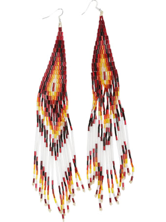 Jessie Western Long Beaded Earring