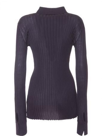 Bottega Veneta Ribbed Shirt In Black