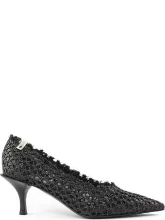 Premiata Black Perforated Pumps