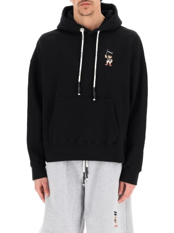 Palm Angels Pirate Bear Embroidered Hoodie