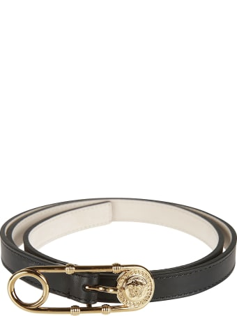 Versace Safety Pin Buckled Belt