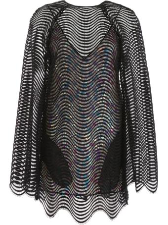 Marco de Vincenzo Net Mini Dress With Sequins
