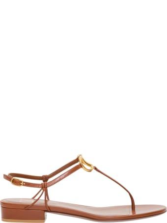 Valentino Garavani Vlogo Sandals In Leather