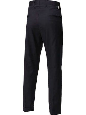 Low Brand Navy-blue Virgin Wool Trousers