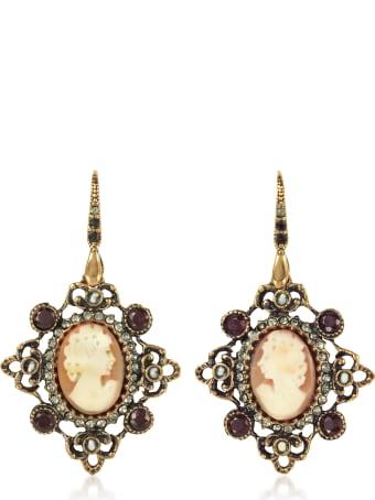 Alcozer & J Cameo Earrings W/ Baroque Frame