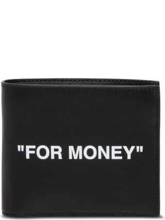 Off-White Bifold Leather Wallet With Print