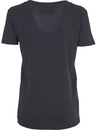 John Richmond Black T-shirt With V Neck