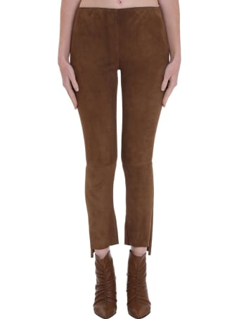 Salvatore Santoro Pants In Beige Leather
