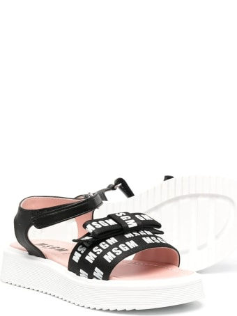 MSGM Sandals With Print And Bow