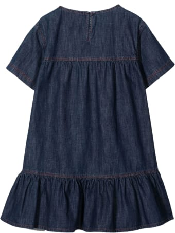 Philosophy di Lorenzo Serafini Denim Blue Cotton Dress