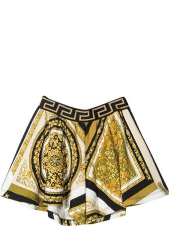 Young Versace Printed Shorts
