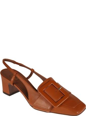 L'Autre Chose Slingback Buckle Embellished Sandals
