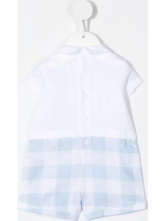 Il Gufo Newborn Short Linen Jumpsuit